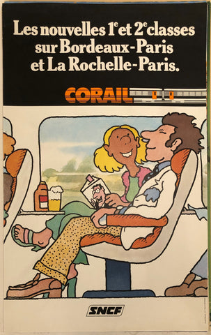SNCF Corail Travel Poster
