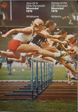 Games of the XXI Olympiad Montreal 1976 Hurdling