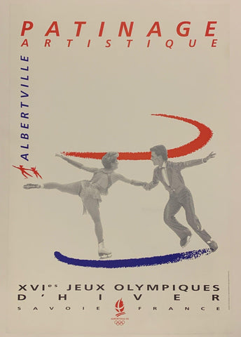 1992 Olympics Patinage Poster