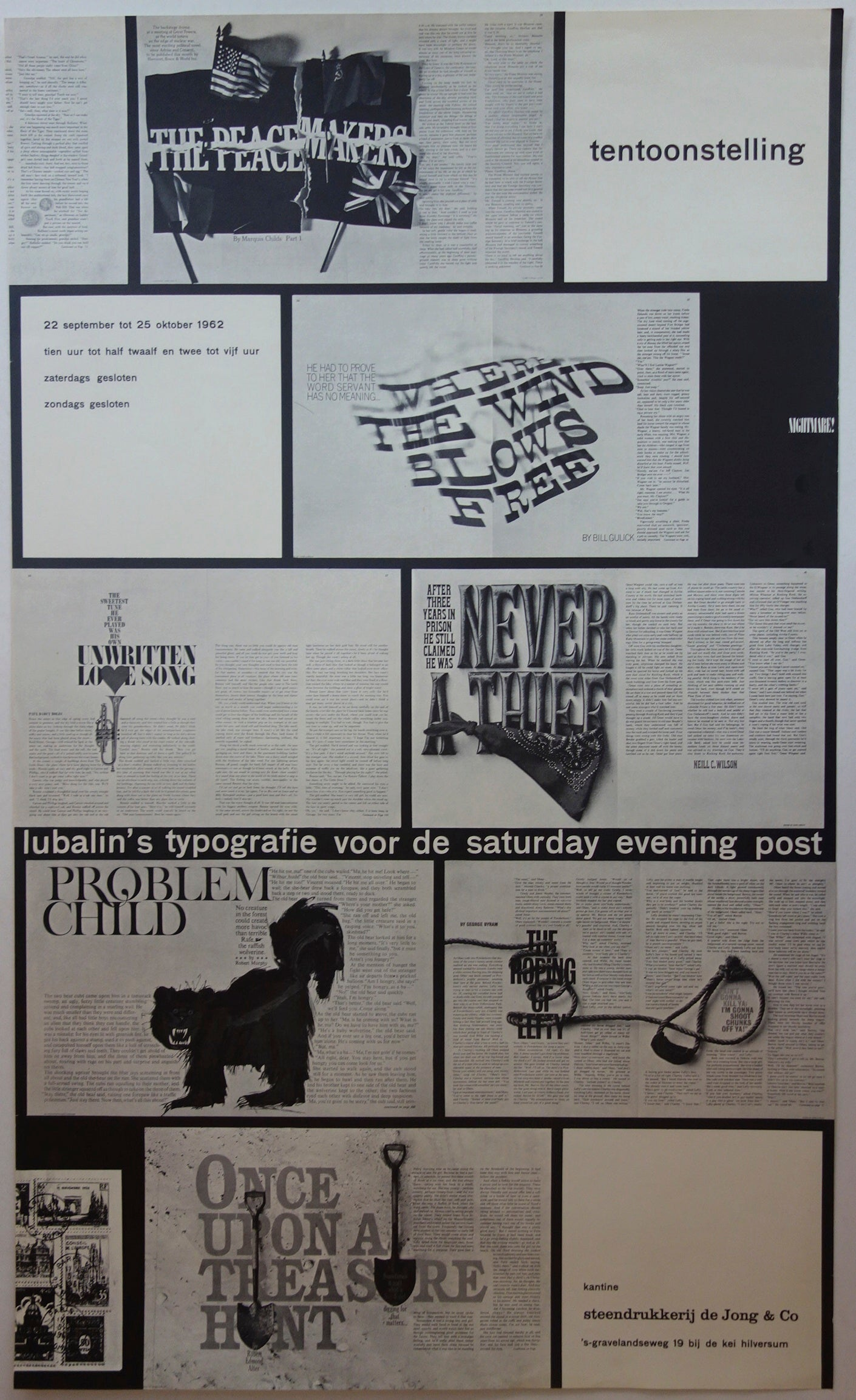 Tentoonstelling: Lubalin's Typografie Voor De Saturday Evening Post