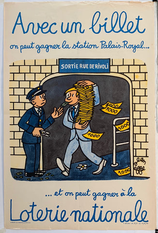 French Lottery Poster - Royal