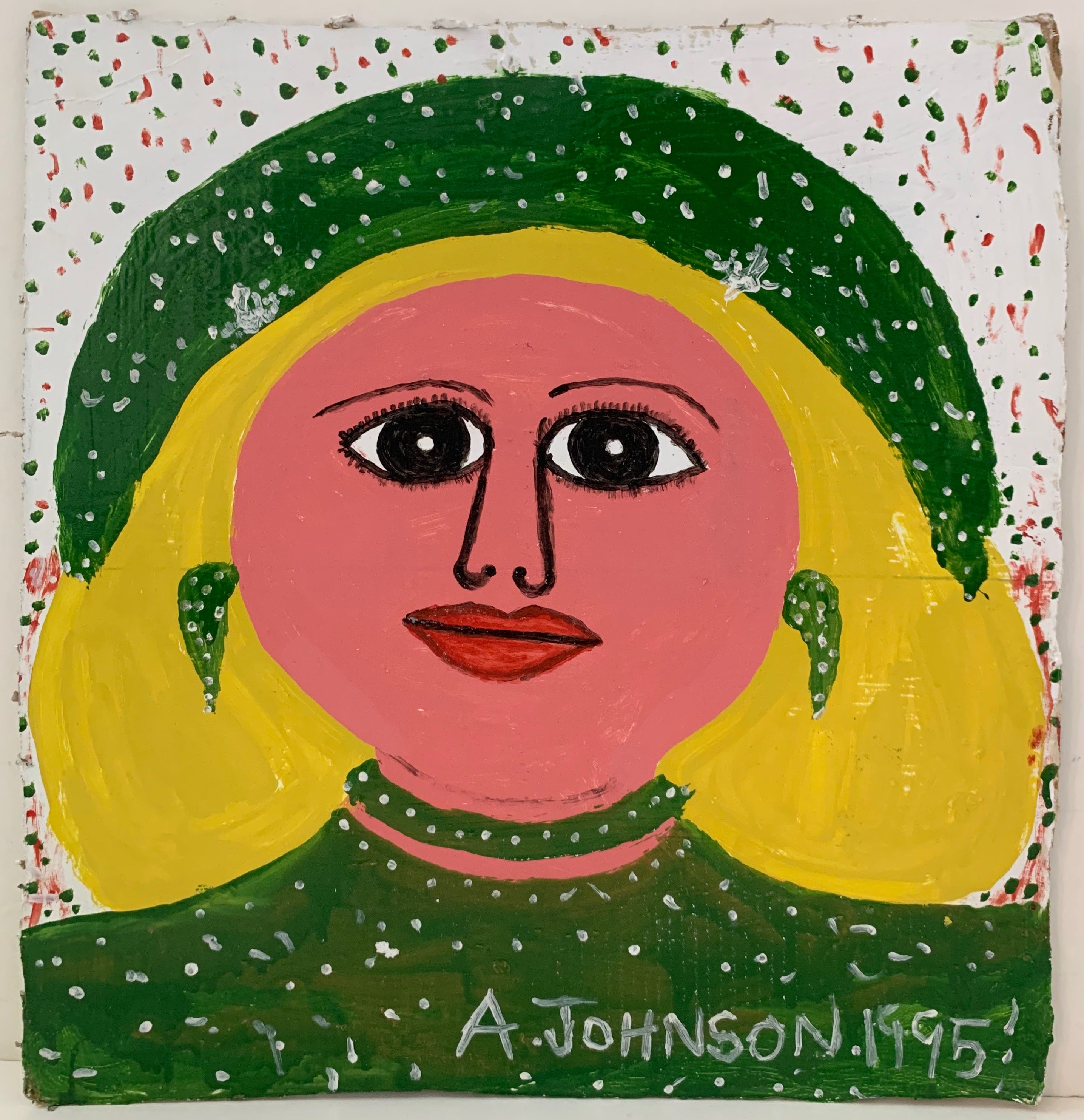 Blonde Woman in Green Anderson Johnson Painting