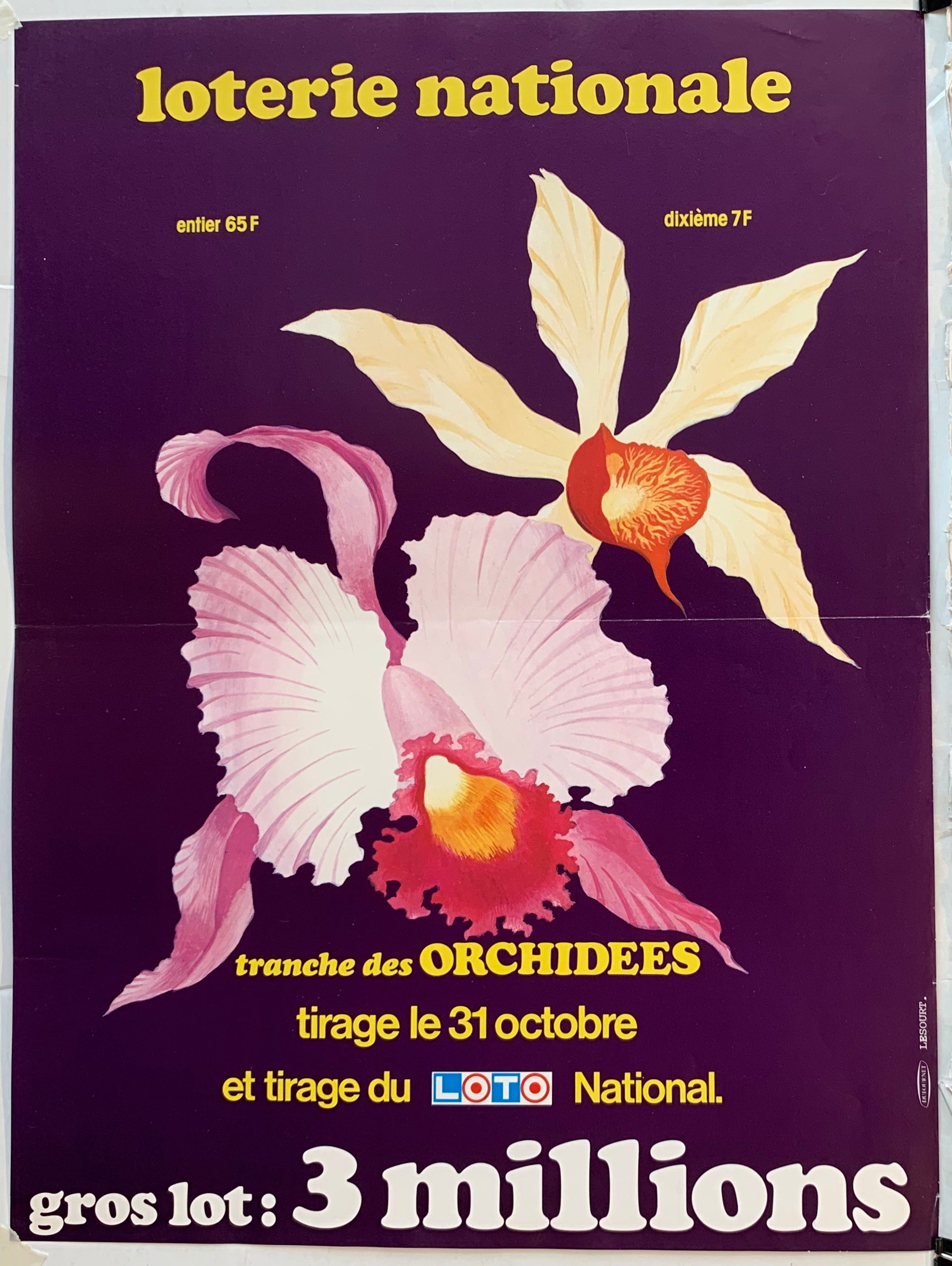 "Loterie Nationale - ""Tranche des Orchidees"""