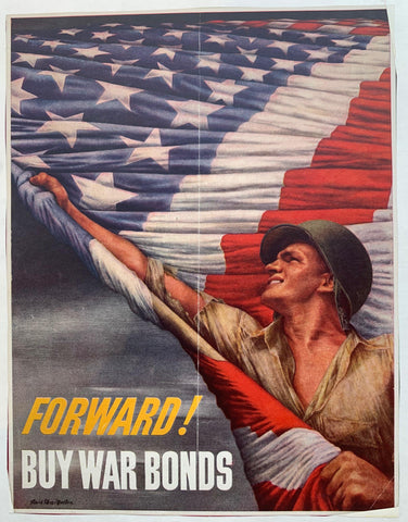 Forward! Buy War Bonds. - Poster Museum