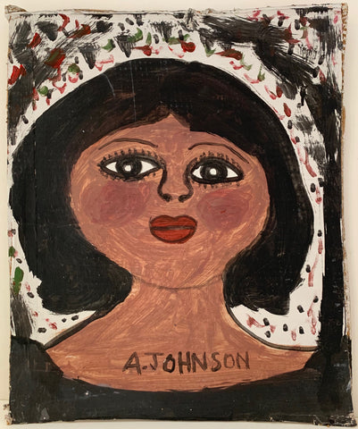 Woman Blushing Anderson Johnson Painting