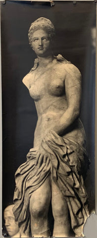 A poster of a Greco Roman statue.