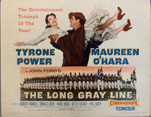 Moie poster the long gray line man carrying women in 1950s dress in his arms
