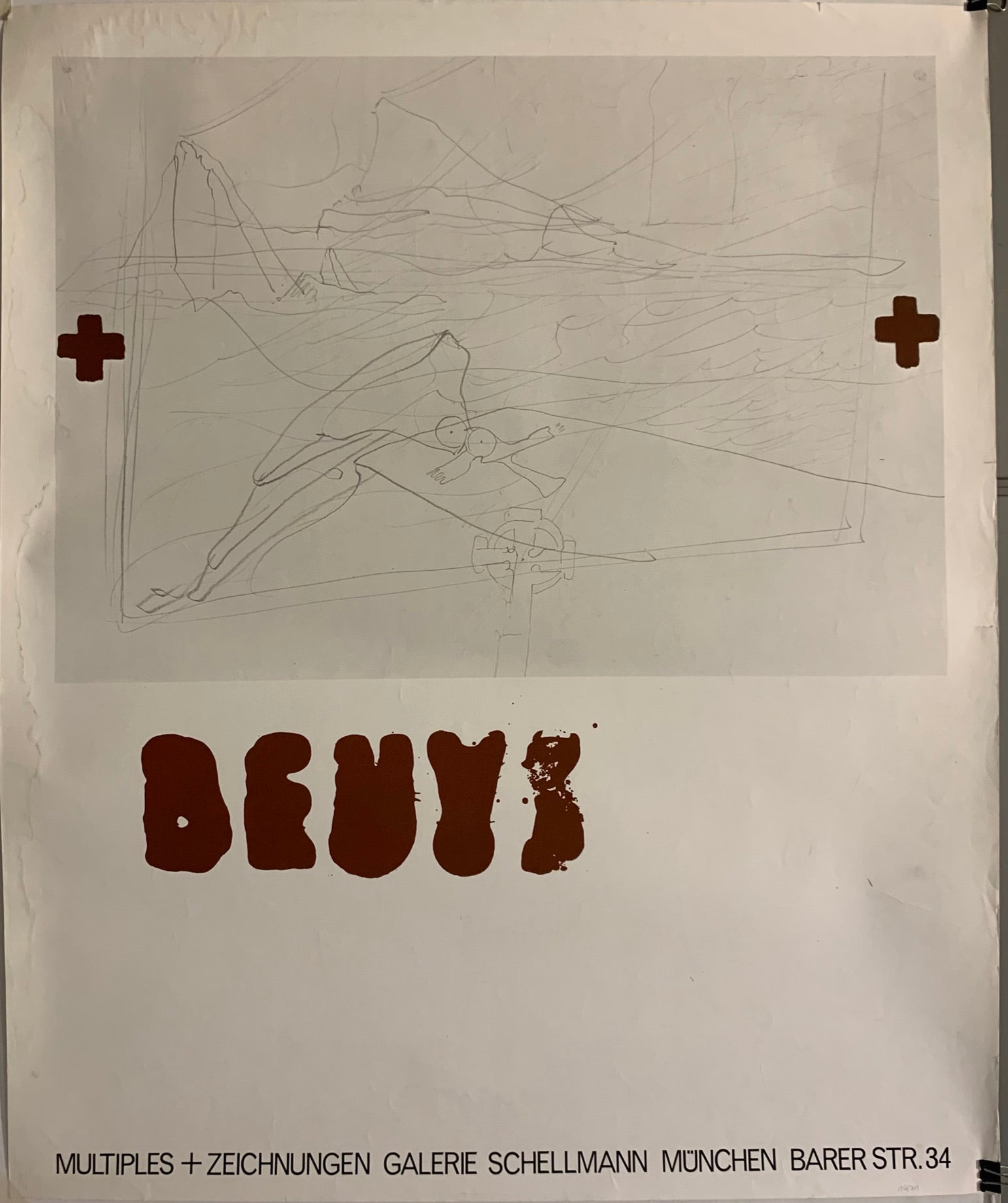 Poster of an abstract Beuys pencil sketch
