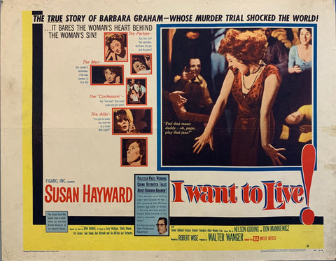 Woman Dancing on movie poster I want To live, movie about true crime murder trial