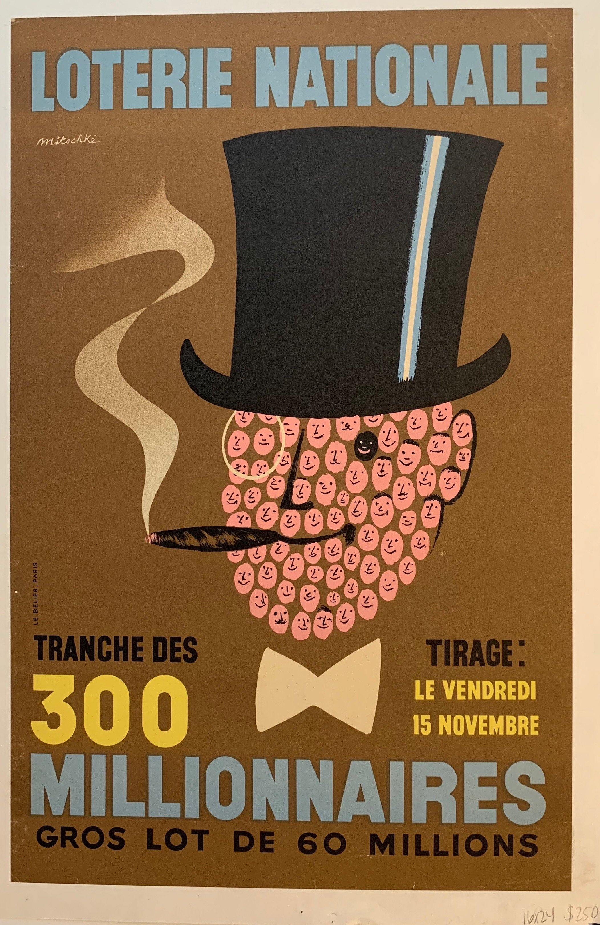 "Loterie Nationale: ""Fancy Cigar Face Man"" - Poster Museum"
