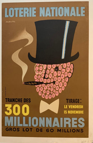 "Loterie Nationale: ""Fancy Cigar Face Man"""