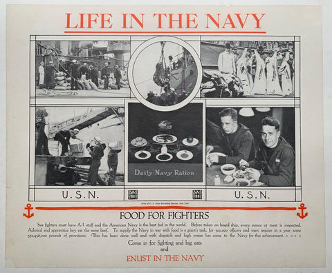 "Life in the Navy ""Food for Fighters"" - Poster Museum"