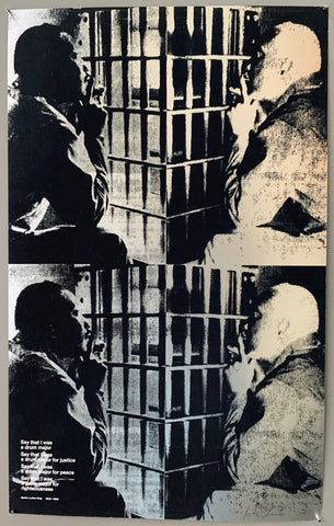 Martin Luther King, Jr. in Jefferson County Jail Print #01