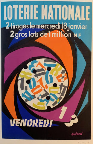 "Loterie Nationale: ""Spiraled Numbers"" - Poster Museum"