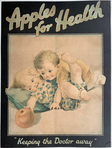 "Apples for Health ""Keeping the Doctor away"" - Poster Museum"