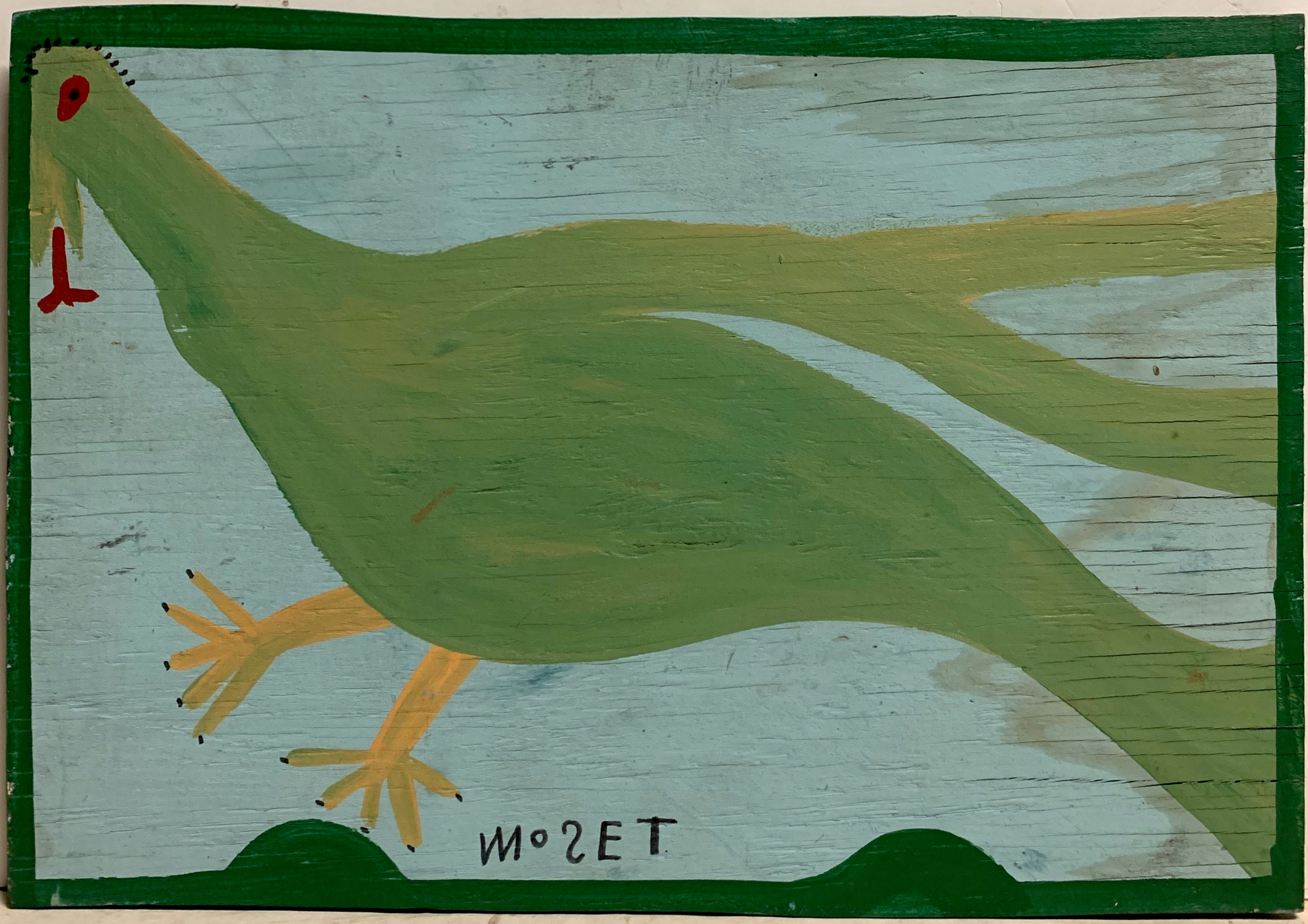 Light Green Bird Mose Tolliver Painting