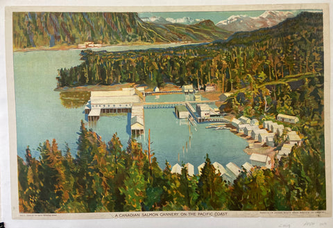 Poster of a cannery on the water