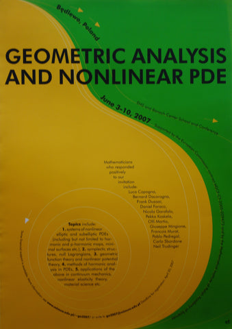 Geometric Analysis and Nonlinear Pde