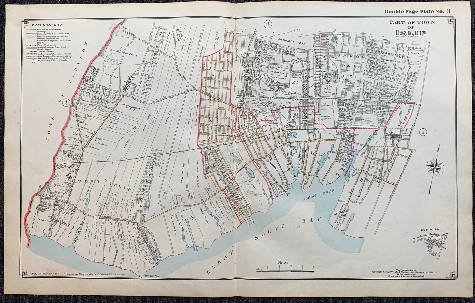 Long Island Index Map No.2 - Plate 3 Islip