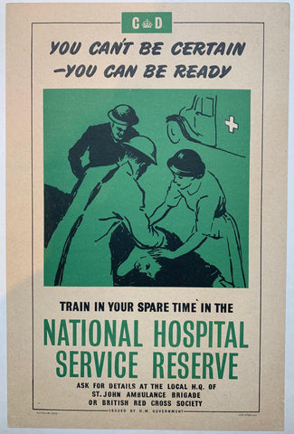 "Train in your spare time in the ""National Hospital Service Reserve"" - Poster Museum"