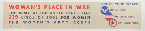 Woman's Place in War - Poster Museum