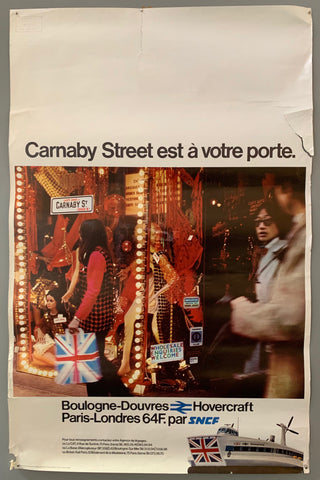 Poster featuring a photograph of a shop on Carnaby Street