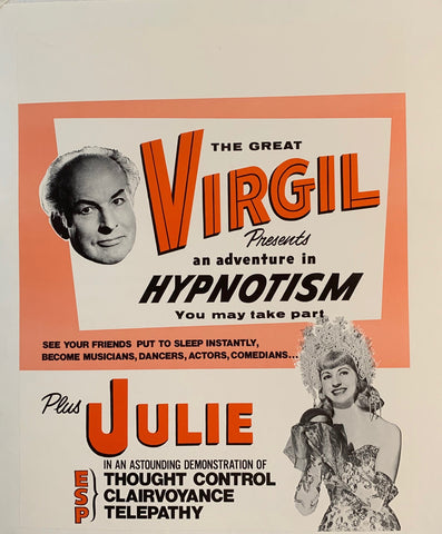 "The Great Virgil presents ""An Adventure in Hypnotism"""