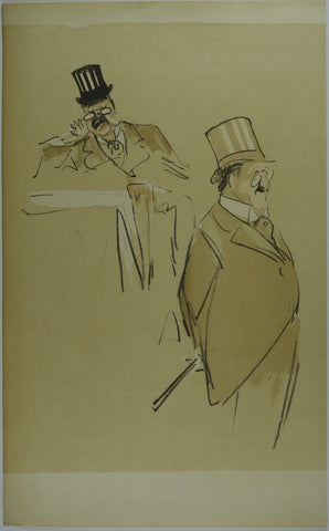 Men in Suits Lithograph