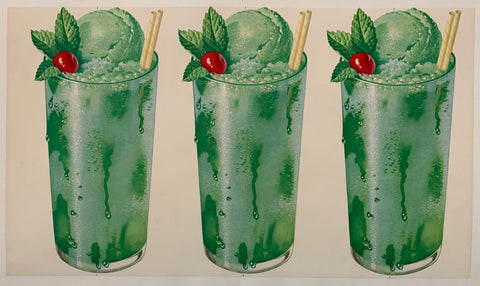 Mint Soda Ice Cream Float