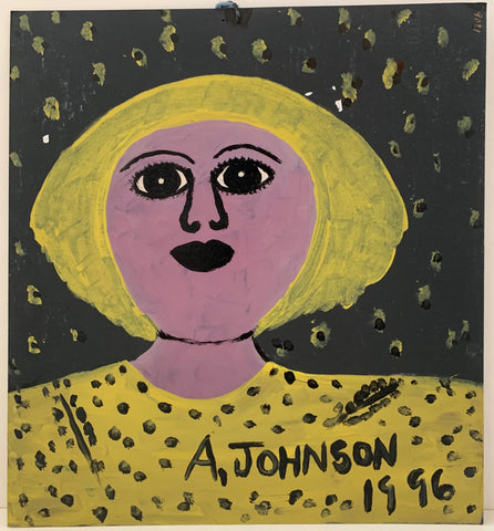 Blonde Woman in Yellow Anderson Johnson Painting