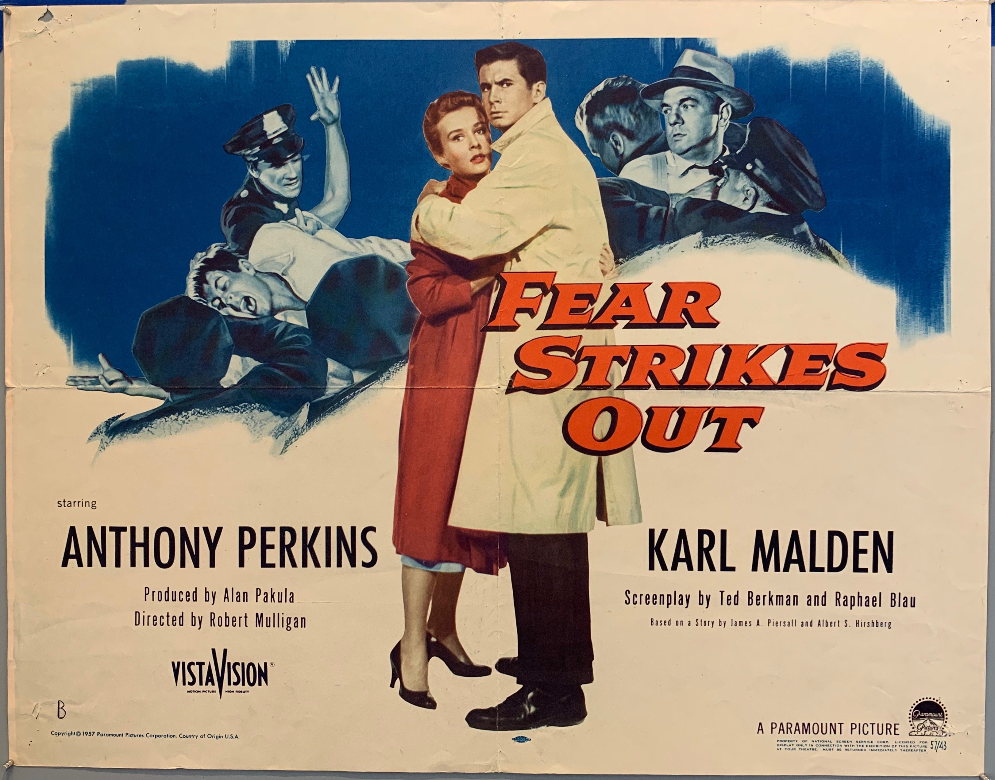 Fear Strikes Out Film Poster