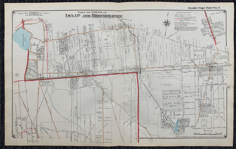 Long Island Index Map No.2 - Plate 8 Islip, Brookhaven