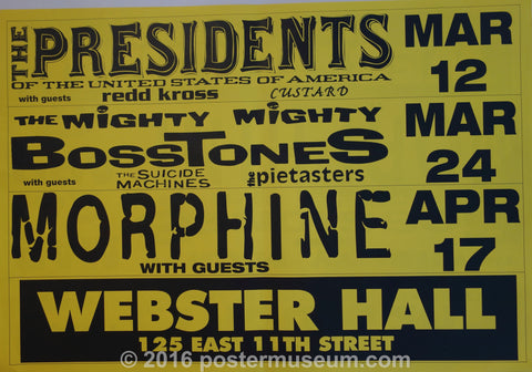 the presidents of the united states of america at Webster Hall