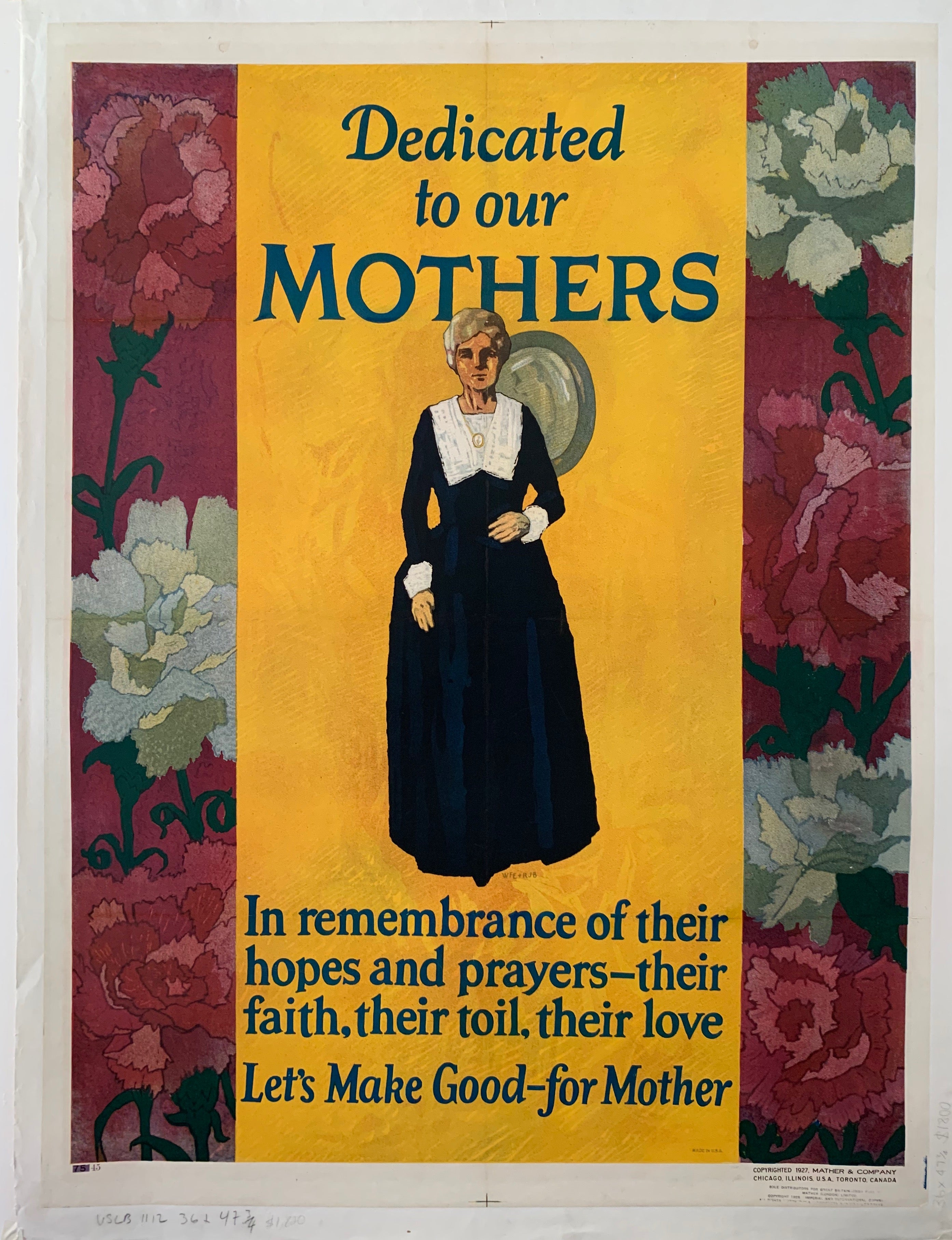 Dedicated To Our Mothers Mather Poster
