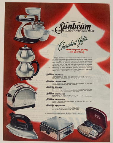 "Sunbeam - ""The Best Electric Appliances Made"""