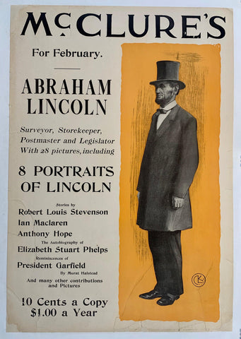 Mc Clure's For February Abraham Lincoln - Poster Museum