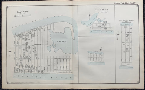 Long Island Index Map No.2 - Plate 27 Saltaire Gilgo Beach Stay a While Beach Map