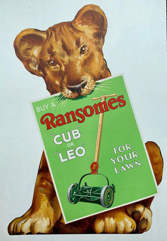 "Buy a Ransomes ""Cub"" or ""Leo"" for your lawn"