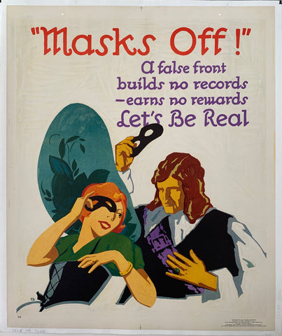 Masks Off! Mather Poster