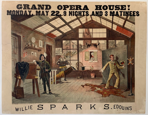 Poster advertising an opera house