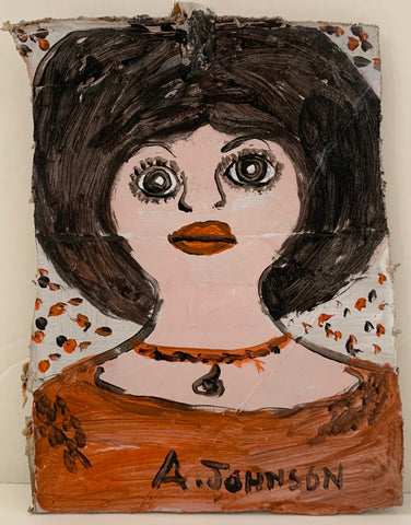 Woman With Big Eyes and Big Hair Anderson Johnson Painting