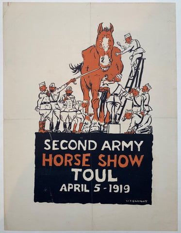 Second Army Horse Show Toul April 5 - 1919 - Poster Museum