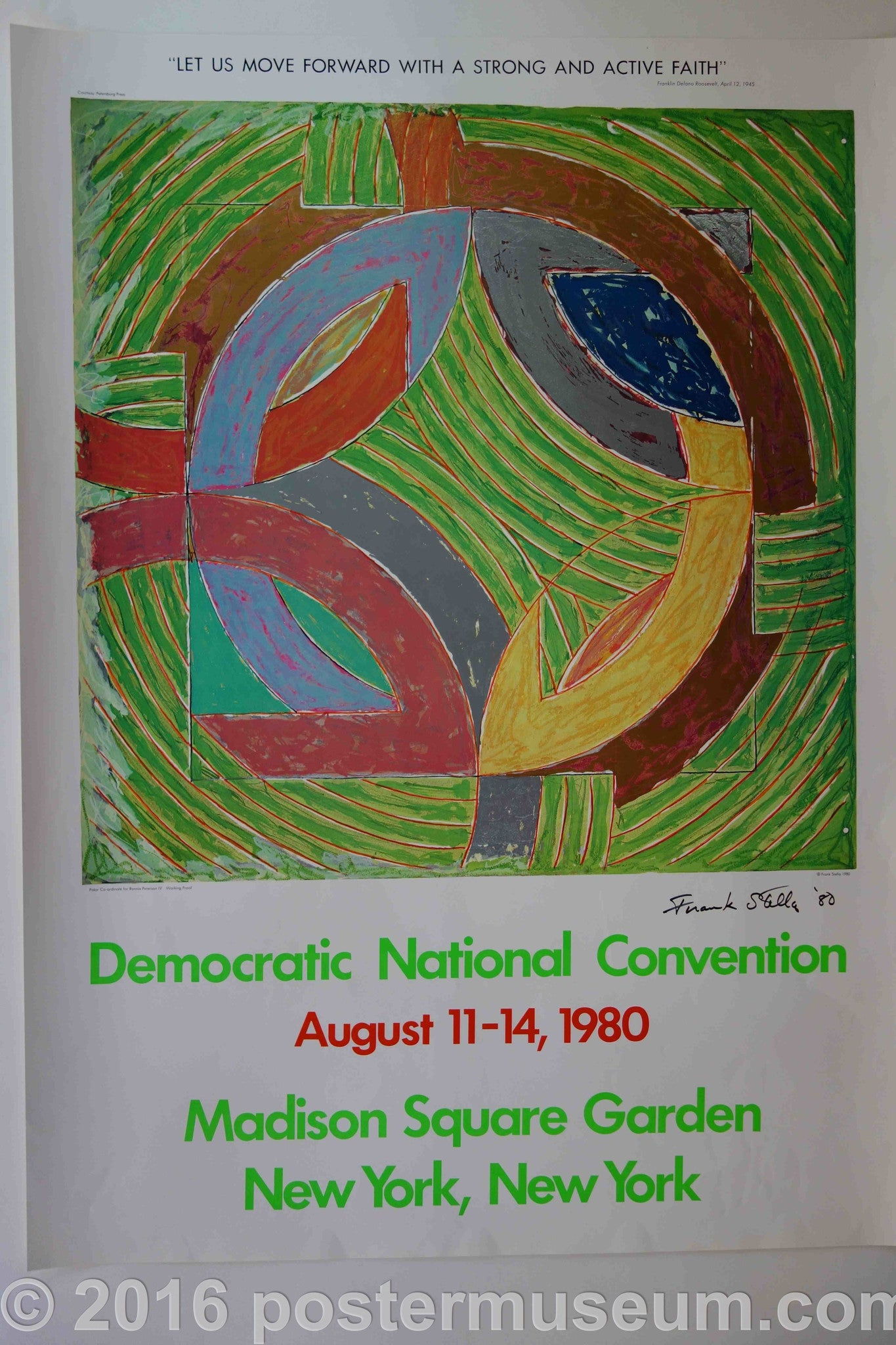 Democratic National Convention - Frank Stella hand signed