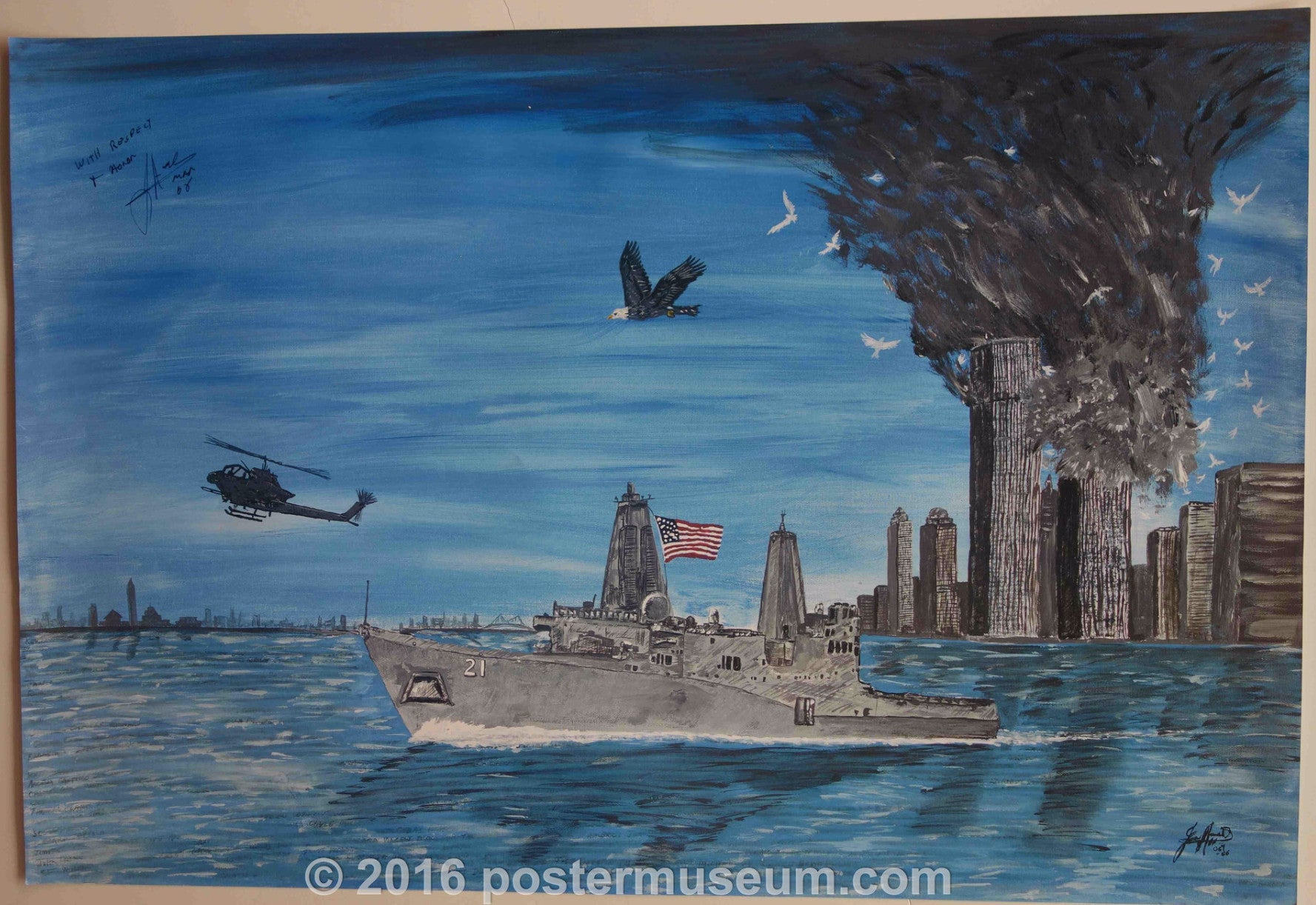 9/11 Ship, Helicopter and Eagle