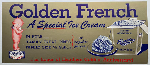 Golden French Hendlers Ice Cream - Poster Museum