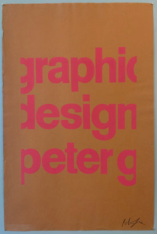 Brown poster with pink font saying graphic design peter g