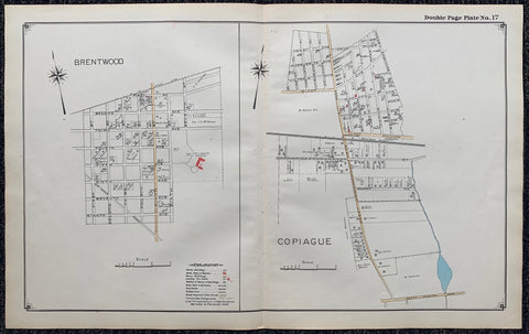Long Island Index Map No.2 - Plate 17 BrentWood,Copiague