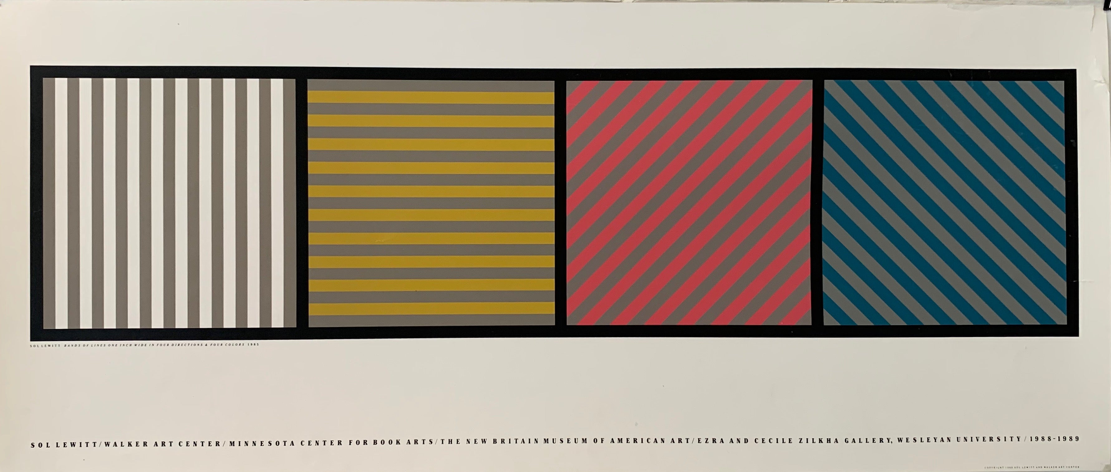 Sol LeWitt/Walker Art Center/ Minnesota Center for Book Arts/ The New Britain Museum of American Art / Erza and Cecile Zilha Gallery, Weslyan University / 1988-1989