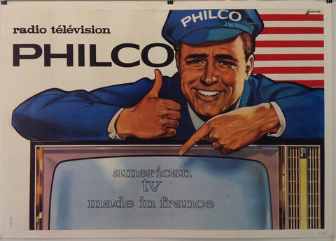 Radio Télévision Philco American TV Made în France - Poster Museum
