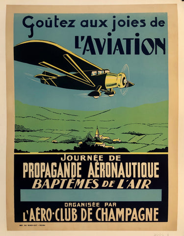 Aux Joies de L'Aviation Poster